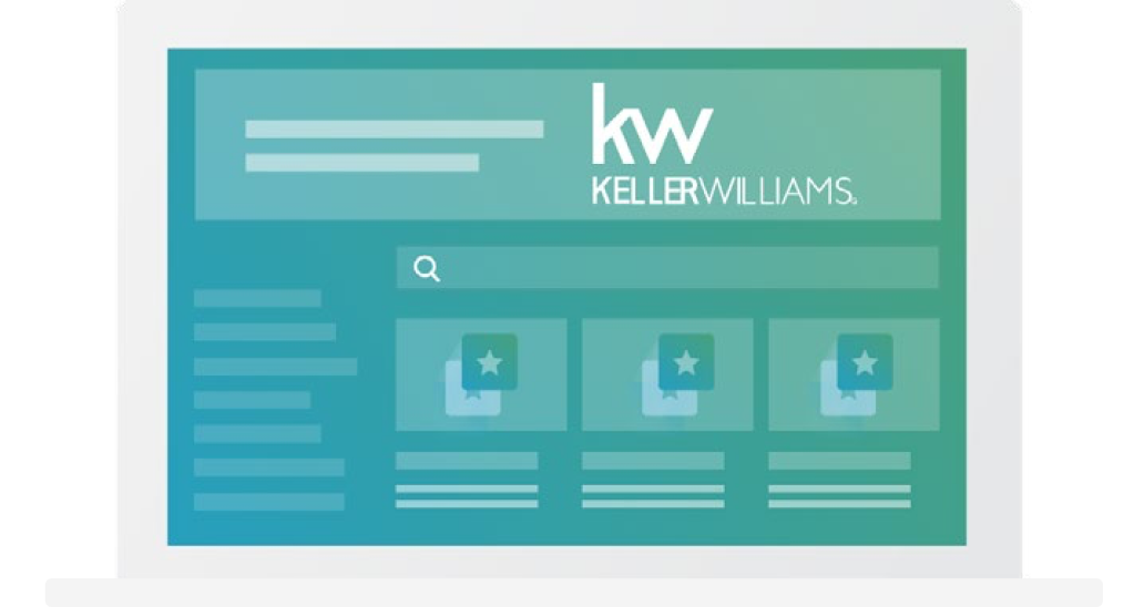 A laptop showing a Keller Williams webpage